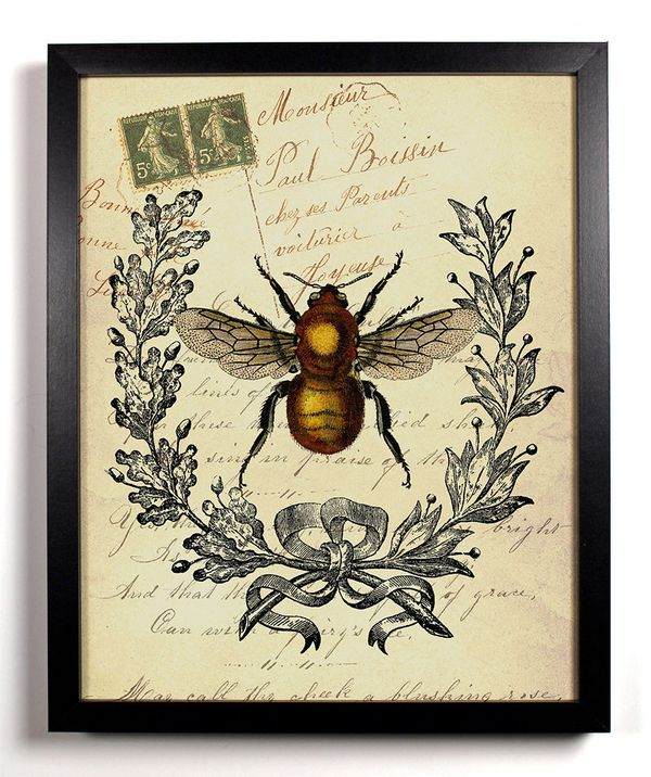 Bee Insect Antique Illustration  8 x 10 Giclee Art Print Upcycled Collage Recycled Book Art Buy 2 Get 1 FREE. $9.99, via Etsy.