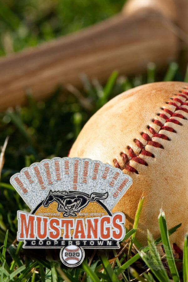 Look at this fancy trading pin we created for the Montvale Mustang team last year. Get your next trading pin from us, and enjoy: ⚾ Custom Artwork ⚾ FREE Shipping ⚾ On-Time Delivery Call 1-888-998-1746 or fill out our quote form.