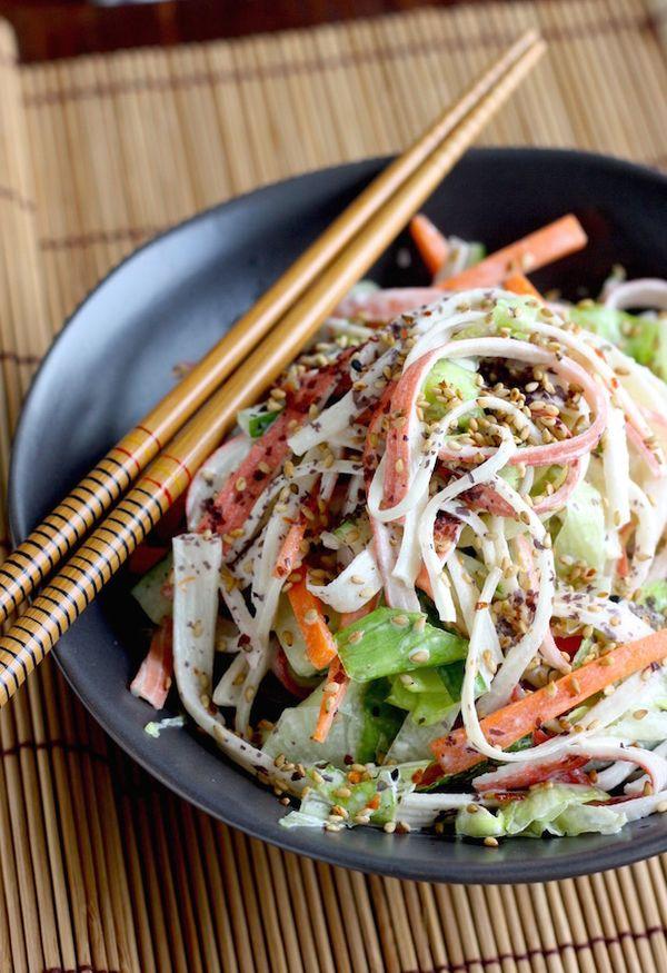 Kani Salad (Japanese Crab Salad) recipe by SeasonWithSpice.com @seasonwithspice