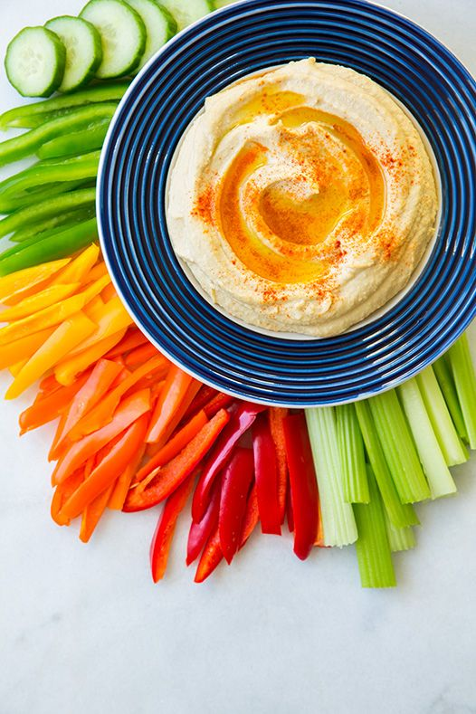 Hummus - this is going to be my go to hummus recipe from now on, it's so good. Lovely display.
