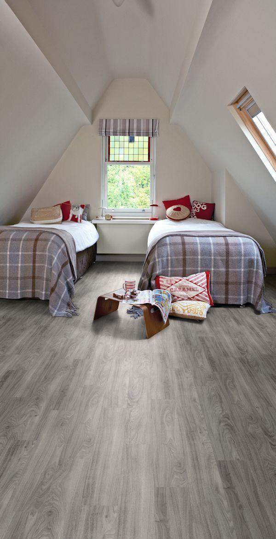 Luxury vinyl tile - grey