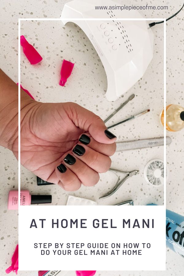 Sharing a step by step tutorial on how to do your gel manicure at home. Visit www.asimplepieceofme.com for all the details. #diynails #nails #gelmanicure #gelmani #DIYnailmani