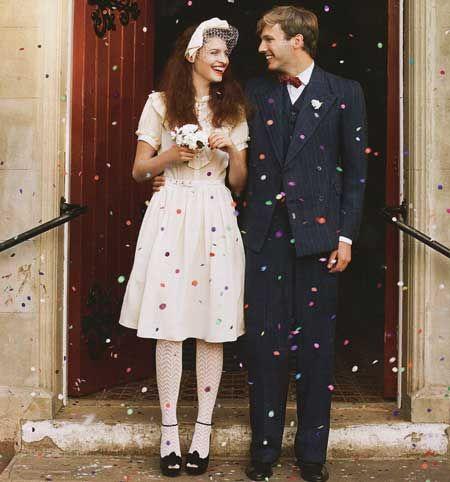 1940s wedding style