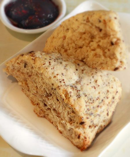 Banana Scones  (dairy-free, egg-free, nut-free, soy-free, vegan, vegetarian; gluten and wheat-free with modifications)