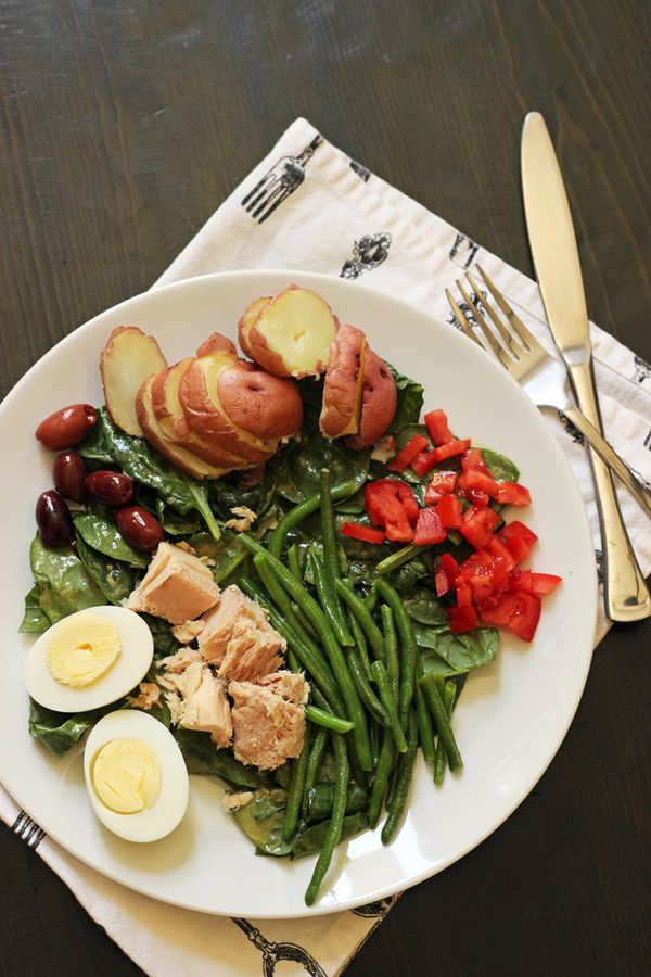 Salade Composee | Tips and Recipes from Good Cheap Eats - Salade composee, or composed salad, is a great way to serve a healthier, quick dinner, with interest and texture. Trust me, it works.