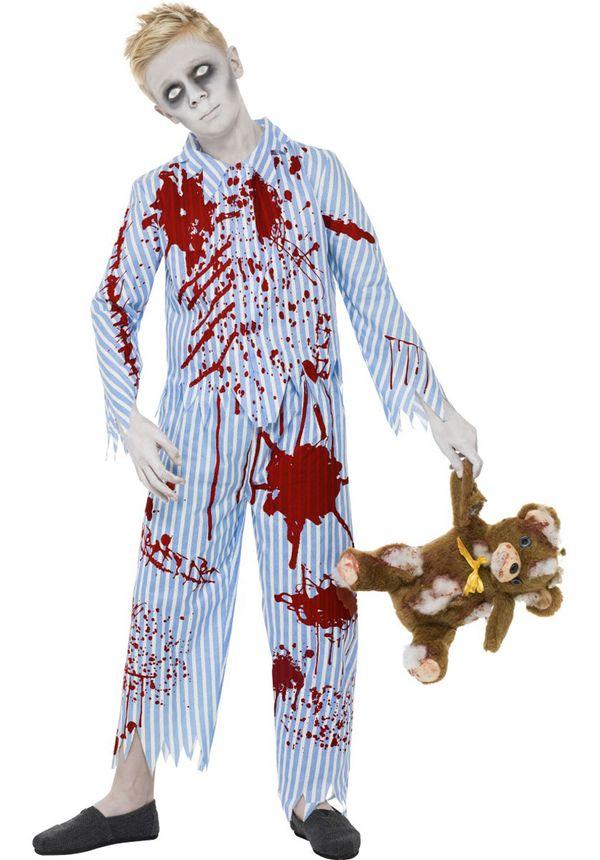 Kids Zombie Pyjama Boy Costume - Child Halloween C…
