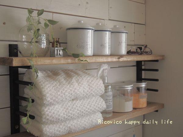 [come home!37掲載] 100均ディッシュスタンド×端材..簡単収納棚。 Ricorico happy daily life