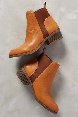 Terracotta short boots with brown insert