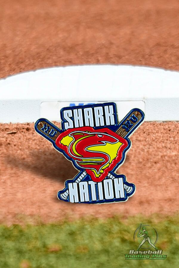 Spring 2021 Season has got us excited. Heres our Shark Nation trading pin design to inspire you wins! #baseballparents #baseballlovers #baseballfans #baseballislife #baseballlove