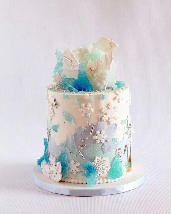 36 Most Pinned Photos In Blue Wedding Theme ❤ blue wedding theme blue unique wedding cake #weddingforward #wedding #bride