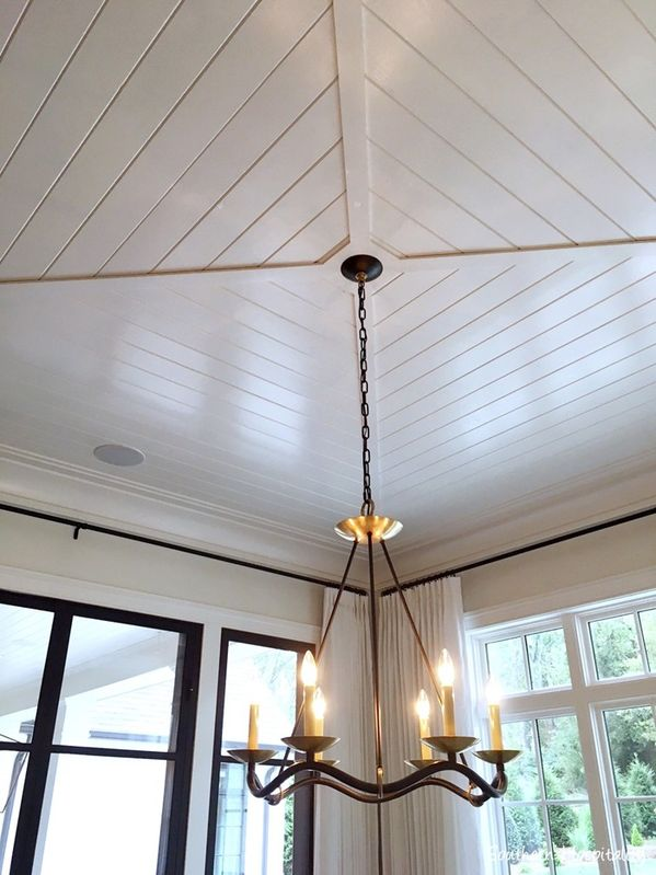 Love this ceiling for a breakfast nook - would also be great in a sunroom!