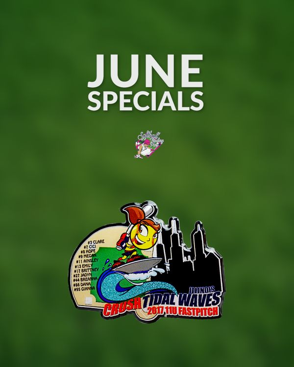 For the month of June get 7% off offset printed pins! **Please note: Must purchase 200+pins to qualify and 7% discount applied to base pin price only, other upgrades not included. Cannot be combined with other discounts. **