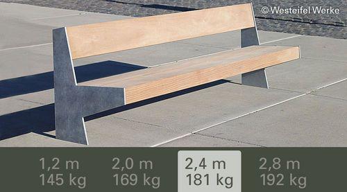 Contemporary public bench in wood and metal VERSIO NEUHEITEN 2013 Gem. Westeifel Werke GmbH