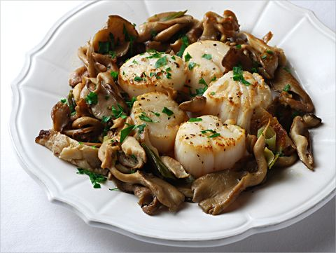 Scallops, fresh mushrooms and wine make the perfect romantic decadent dinner for two.