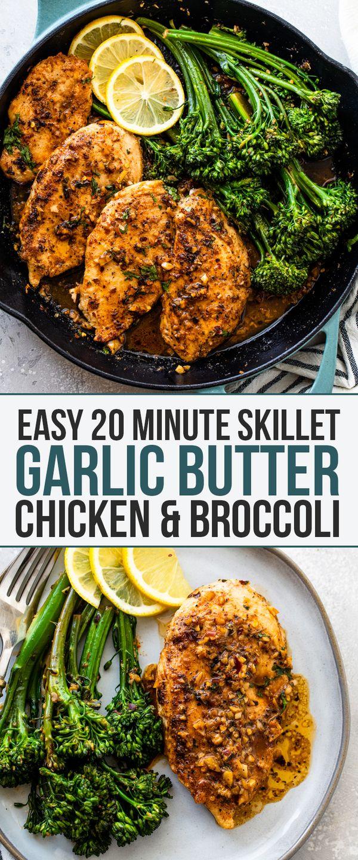 Garlic Butter Chicken & Broccoli (20 Minutes!) | Gimme Delicious