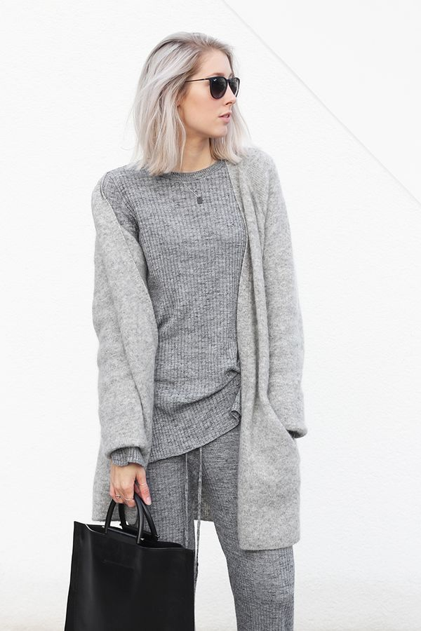 Outfit: all grey knits | MyDubio