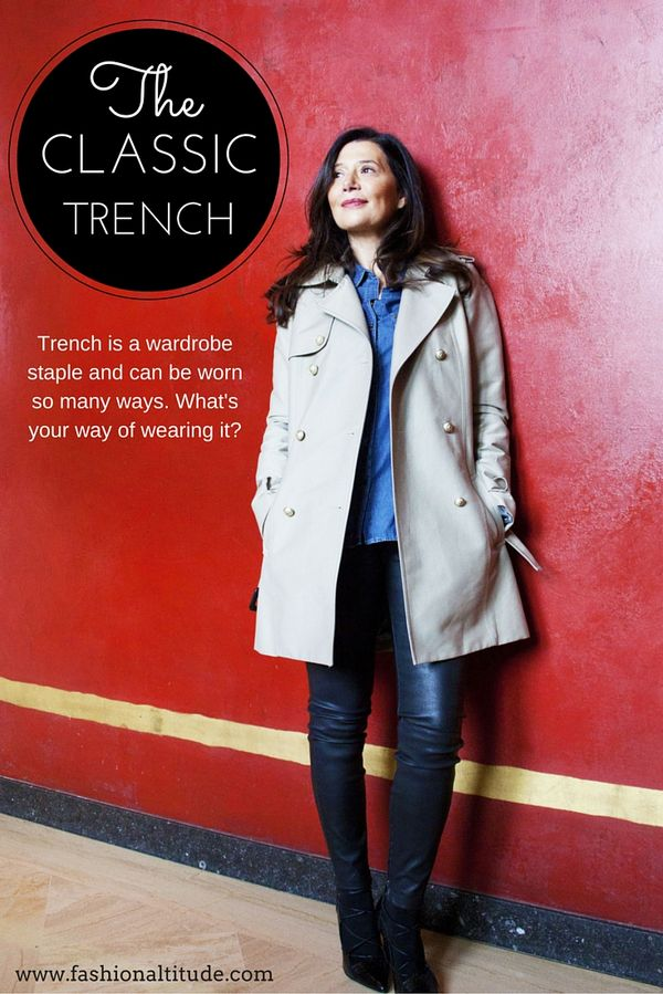 Classic trench is a wardrobe staple. #style #trenc…