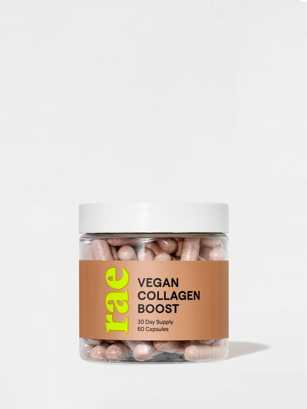 Support collagen production with this high-powered supplement. Made with Bamboo and Vitamins A, B, C and E, Vegan Collagen Boost capsules assist your body's natural collagen production which renews your skin from within and protects its structure.