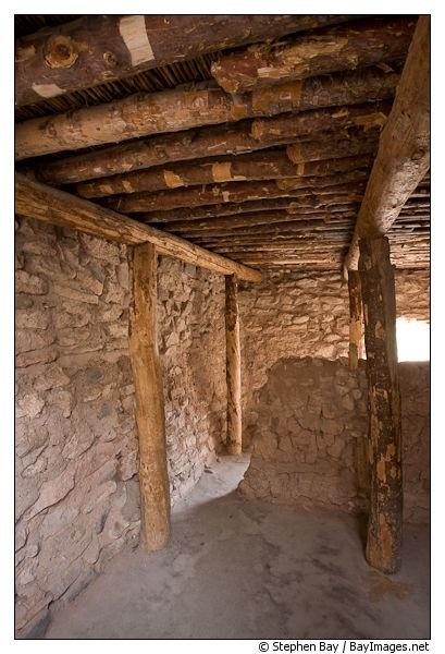 Inside pueblo room. Tuzigoot National Monument, Ar…