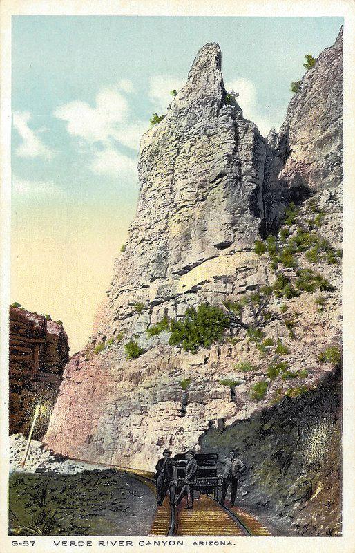 Verde River Canyon- vintage Fred Harvey post card