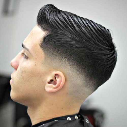 Low Bald Fade with Side Par…