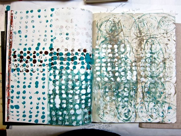 + sophie munns : visual eclectica + : post on journal pages #lino_prints
