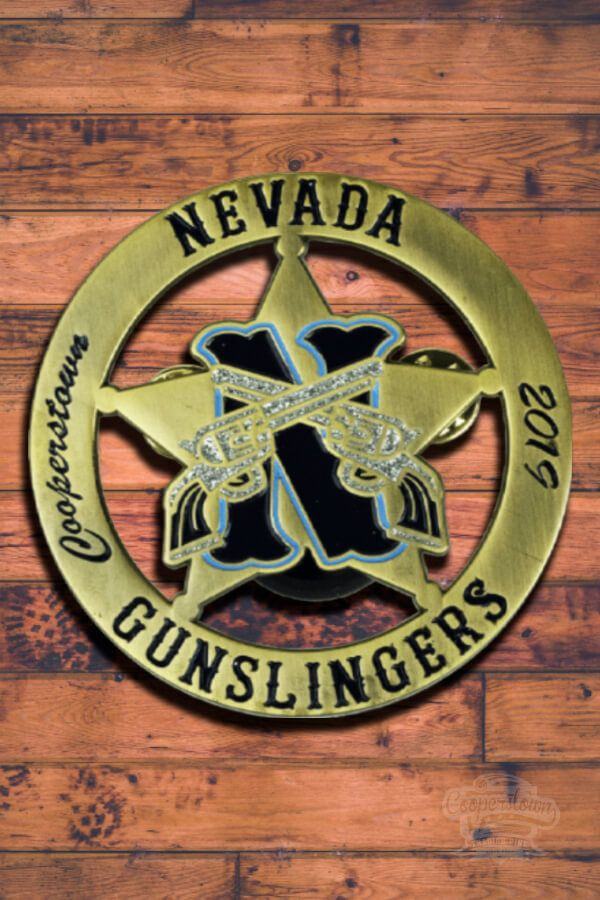 This trading pin weve created for the Nevada Gunslingers team in 2019 rocks! Get your custom-made pin with us.