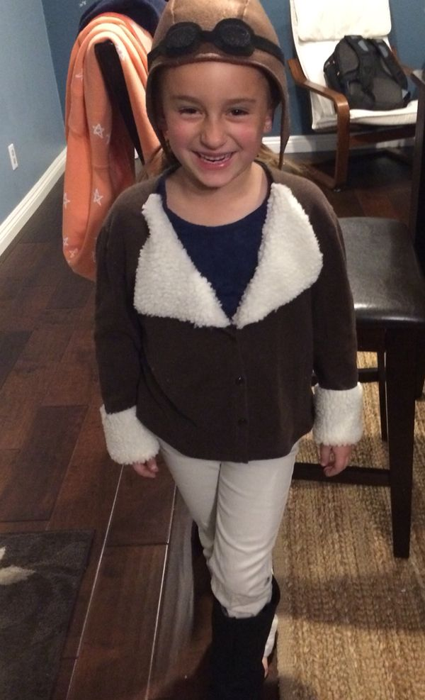 My daughter has a school performance...Amelia Earhart homemade costume
