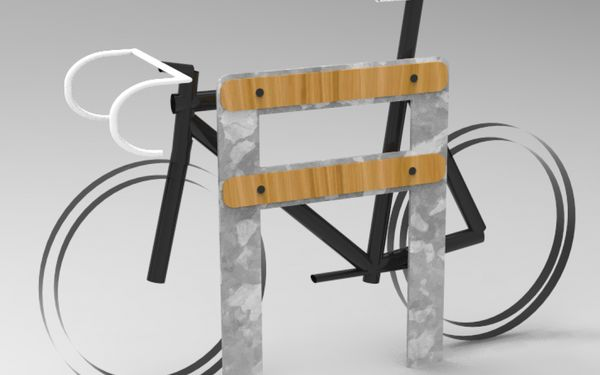 A friendly bike stand. Protect your pride and joy, friendly street furniture.