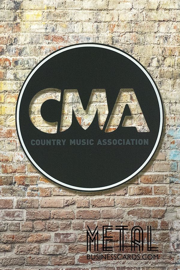 Need a metal promotional piece created for a special event? Check out these anodized black metal id plates we create for the CMA Country Music Association recently 😍