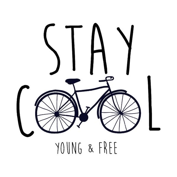 Check out this awesome Stay+Cool+Young+and+Free+Bicycle+TShirt+World+Bicycle+Day design on @TeePublic!