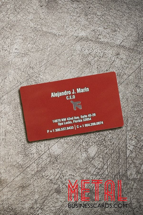 These stainless steel metal cards with a matte finish are almost as luxurious as the private jets this company charters ✈️ Get people talking about your biz with metal business cards 😎