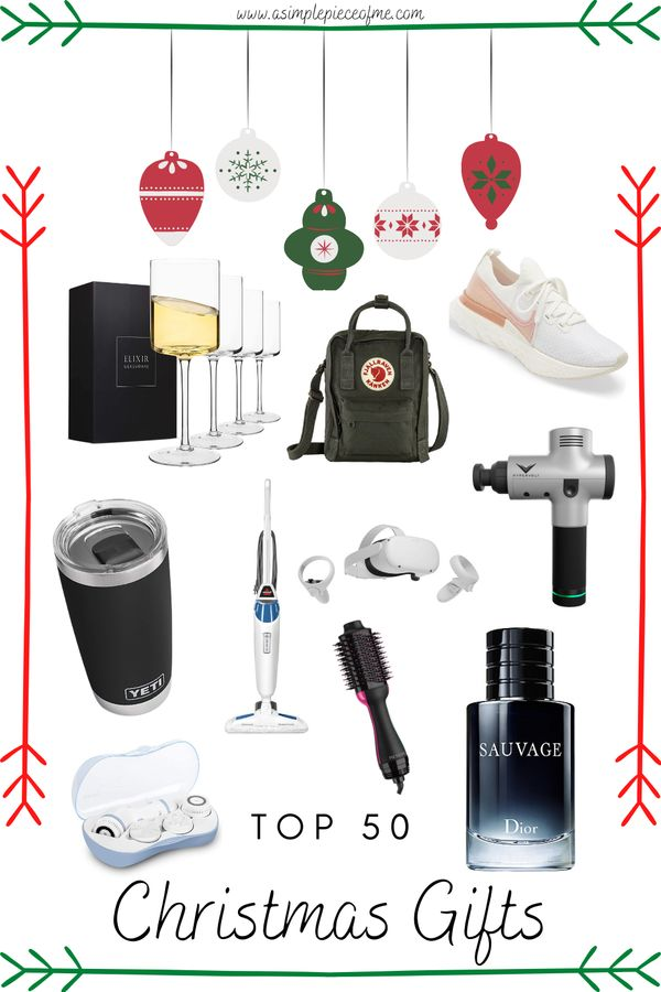 Sharing my top 50 Christmas gift to get that special person, mother in law, father in law, a family member, kids, etc.. Visit www.asimplepieceofme.com for all the deets. #giftguides #christmasgifts #giftguide #christmas #christmasgiftguide #top50gifts