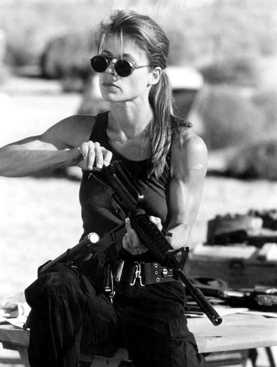 Linda Hamilton as Sarah Connor in Terminator, whatta woman!