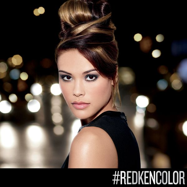 Rich caramel #highlights give your color glossy sh…