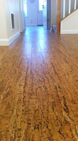 Cork Floor - kitchen  This is a must, have cork in my dining room & kitchen now and love love love it!