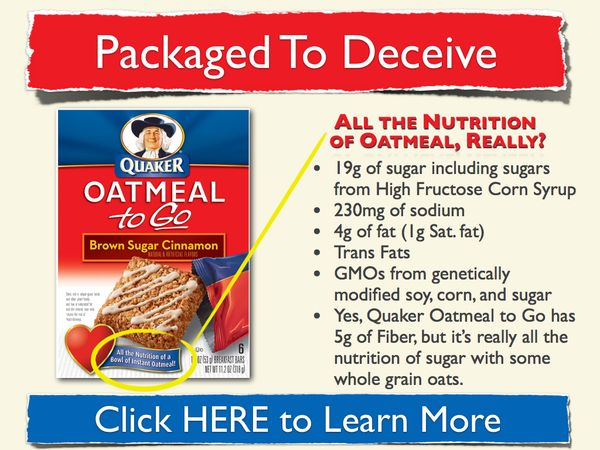 Quaker handy Oatmeal To Go's are supposedly as healthy as a bowl of oatmeal. Really? Does your… Image