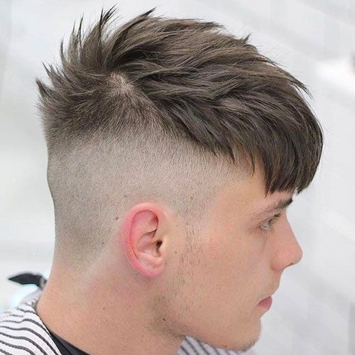 Messy French Crop with Skin Fade