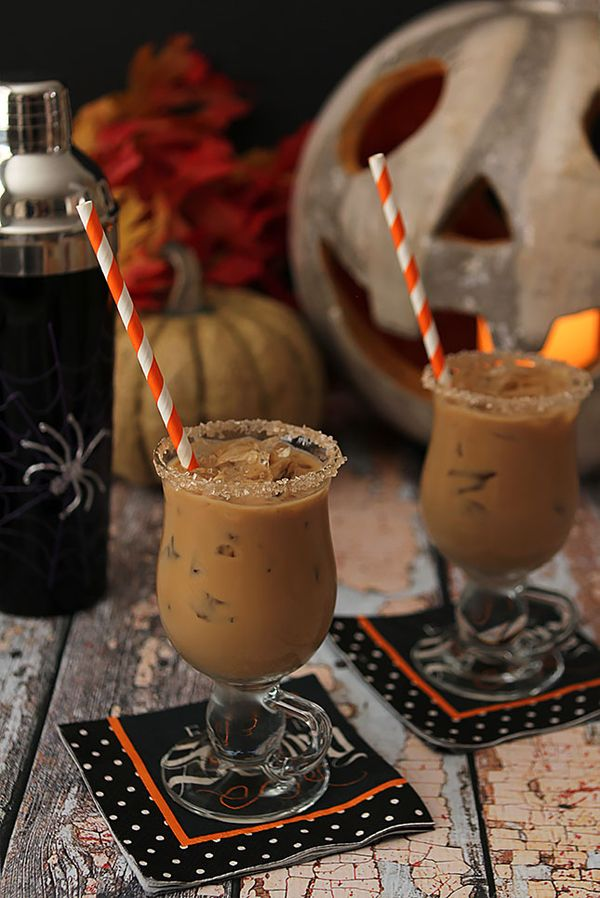 The Halloween Express cocktail recipe - Rum, Espresso, Maple Syrup and Half and Half from Creative Culinary