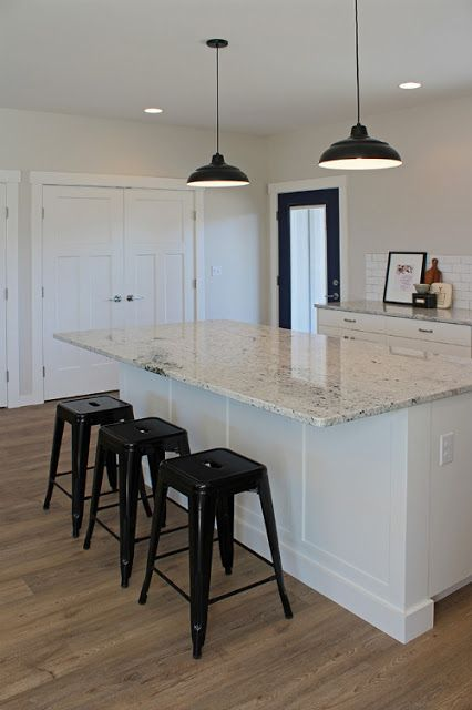 forever*cottage luxury vinyl tile (LVT) flooring from GoHaus.  Also porcelain tile that mimics wood