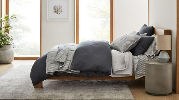Linen Duvet Cover & Shams | West Elm