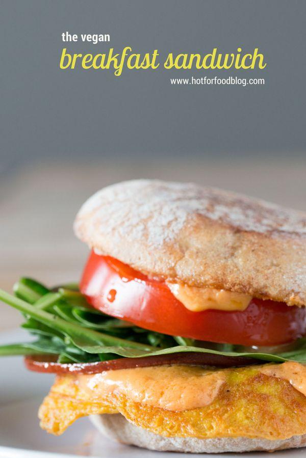 the vegan breakfast sandwich #vegan #breakfast | RECIPE on hotforfoodblog.com