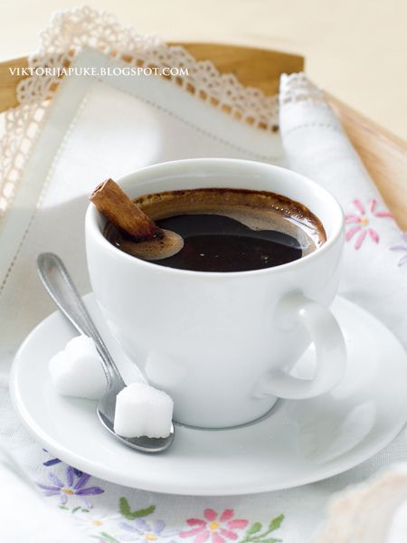 Elegant cinnamon coffee