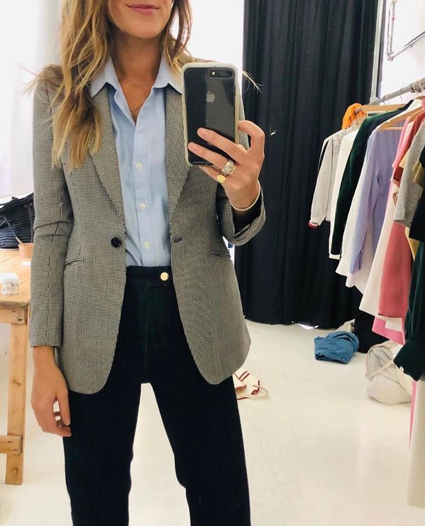 """THE DECK on Instagram: """"Swapped pyjamas for our dogtooth blazer, for all of one afternoon. Cos who says you can't wear a suit when no one is there to see it?…"""""""