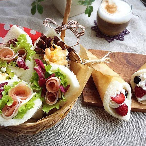 おにぎらずの次は「サンドらず」!くるくる巻くだけ、簡単オシャレな挟まないサンドイッチが話題♡ | by.S