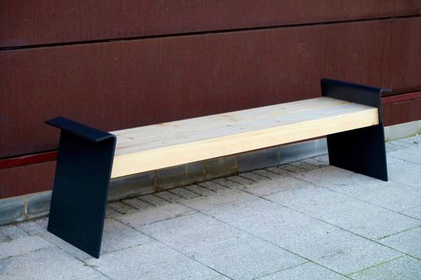 modern street furniture - timber and steel - From benchmark street furniture