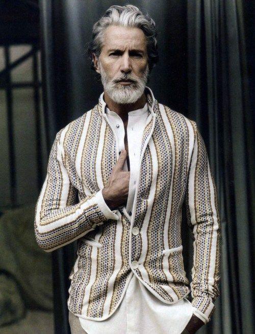 casual yet elegant: vertical stripes men's jacket