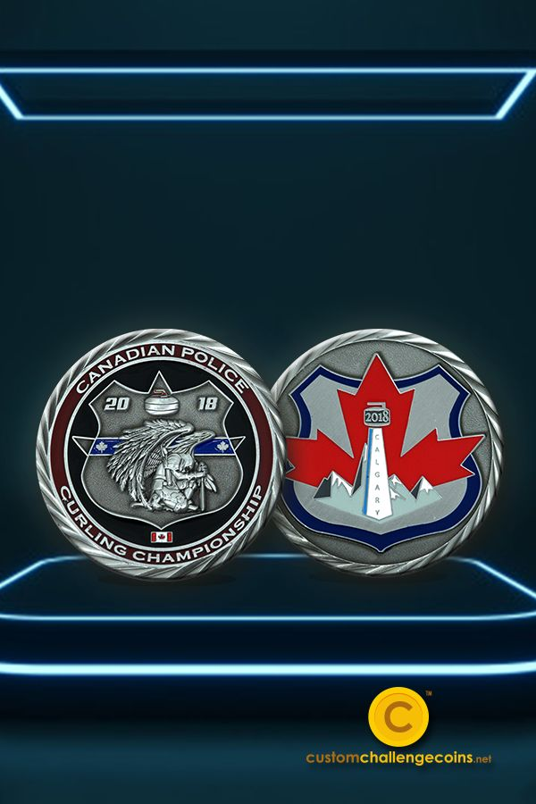 Heres a closer look of the coin weve created for the Canadian Police Curling Championship back in 2020. Thinking of getting a challenge coin for your organization? We can help!