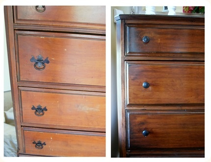 Re-staining wood furniture. This will be my next project once I find that perfec