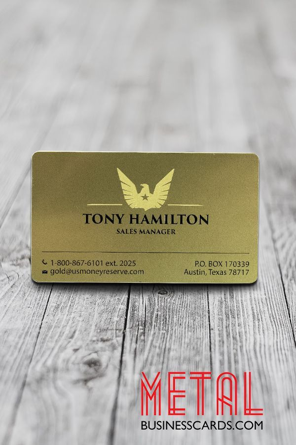 Give them a good and lasting impression. Give them your metal business card.